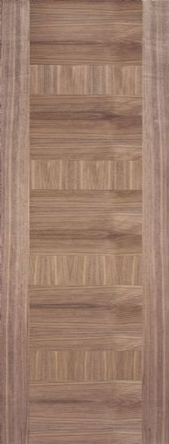 Internal Walnut Monaco Panelled Half Hour Fire Door